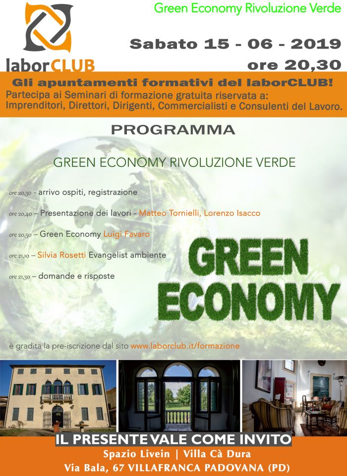 Green Economy locandina